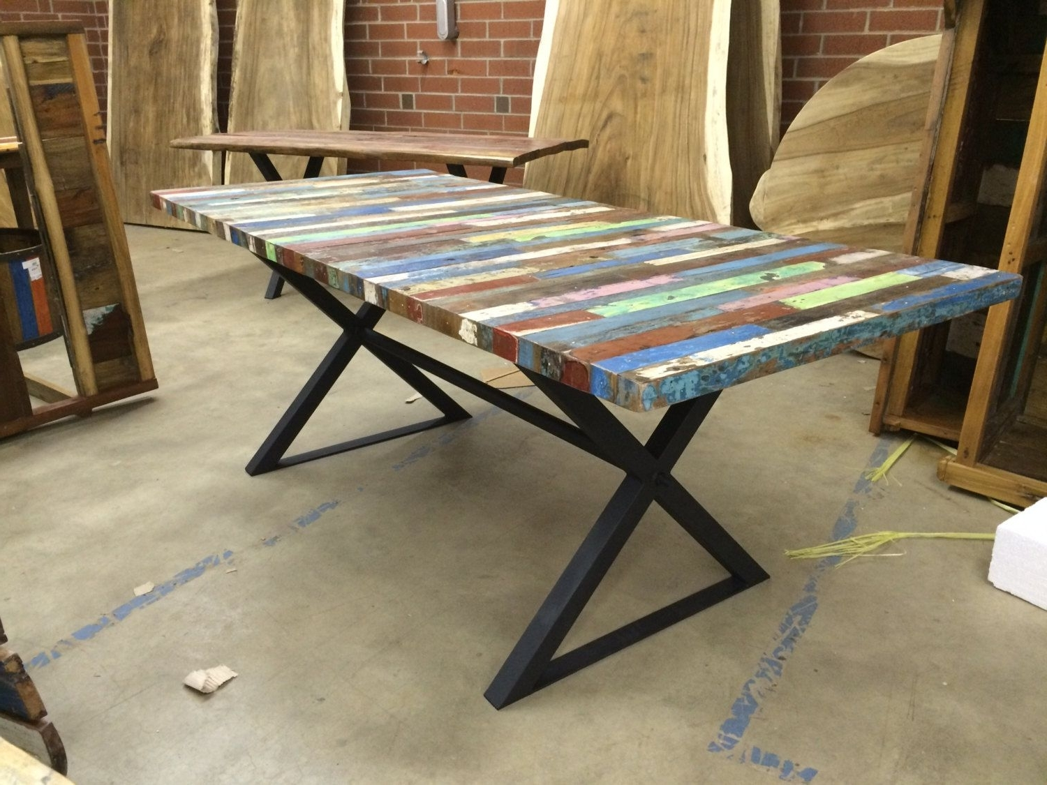 Buy A Handmade Reclaimed Dining Table, Bali Boat Wood Table, Custom Regarding Recent Balinese Dining Tables (View 3 of 25)