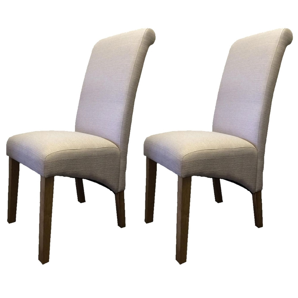 Buy Bayamo Oak Fabric Dining Chairs (Pair) The Furn Shop Pertaining To Favorite Oak Fabric Dining Chairs (View 23 of 25)