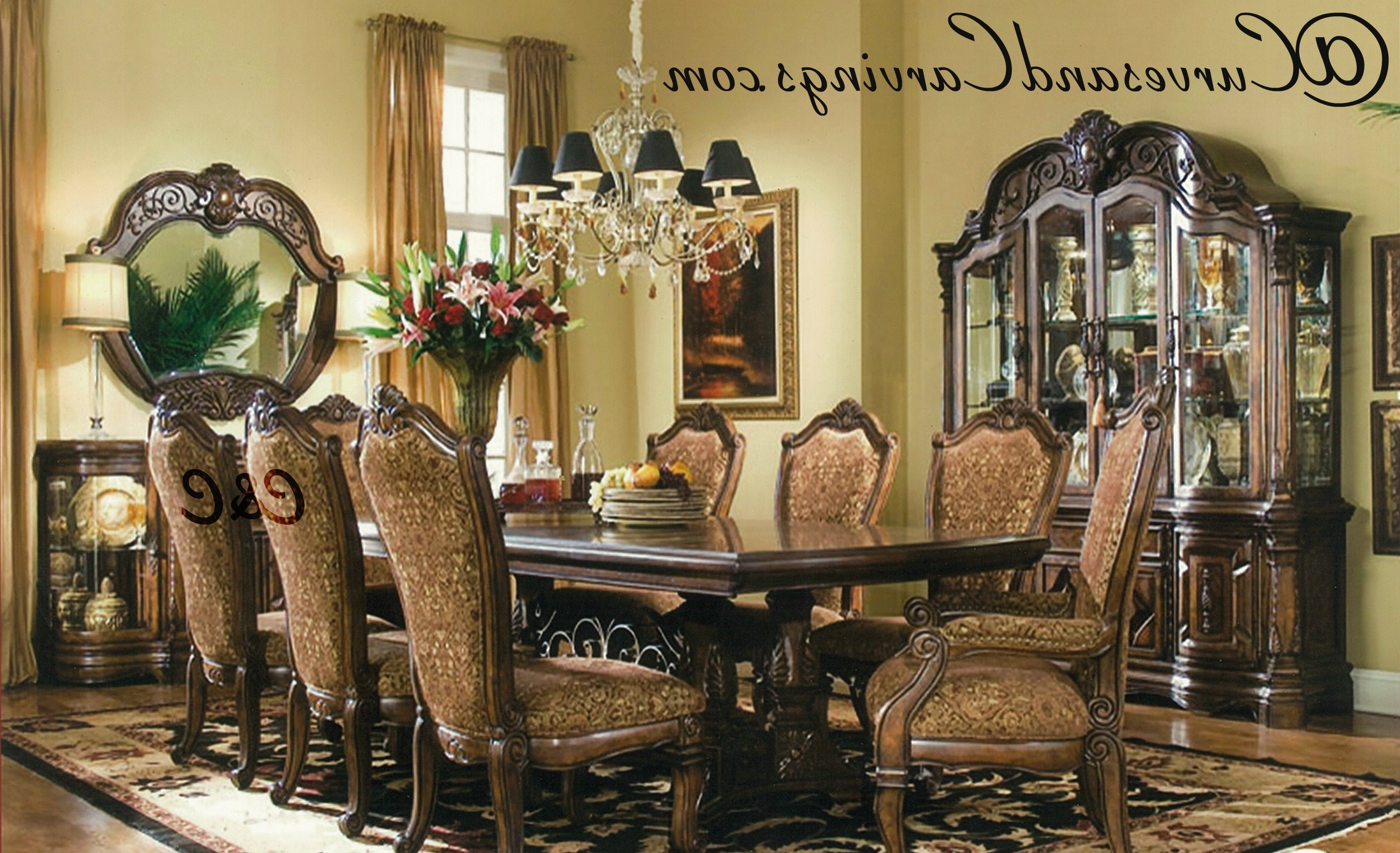 Buy Designer Dining Set 0062 Online In India. Signature Collection Intended For Well Known Indian Dining Room Furniture (Gallery 17 of 25)