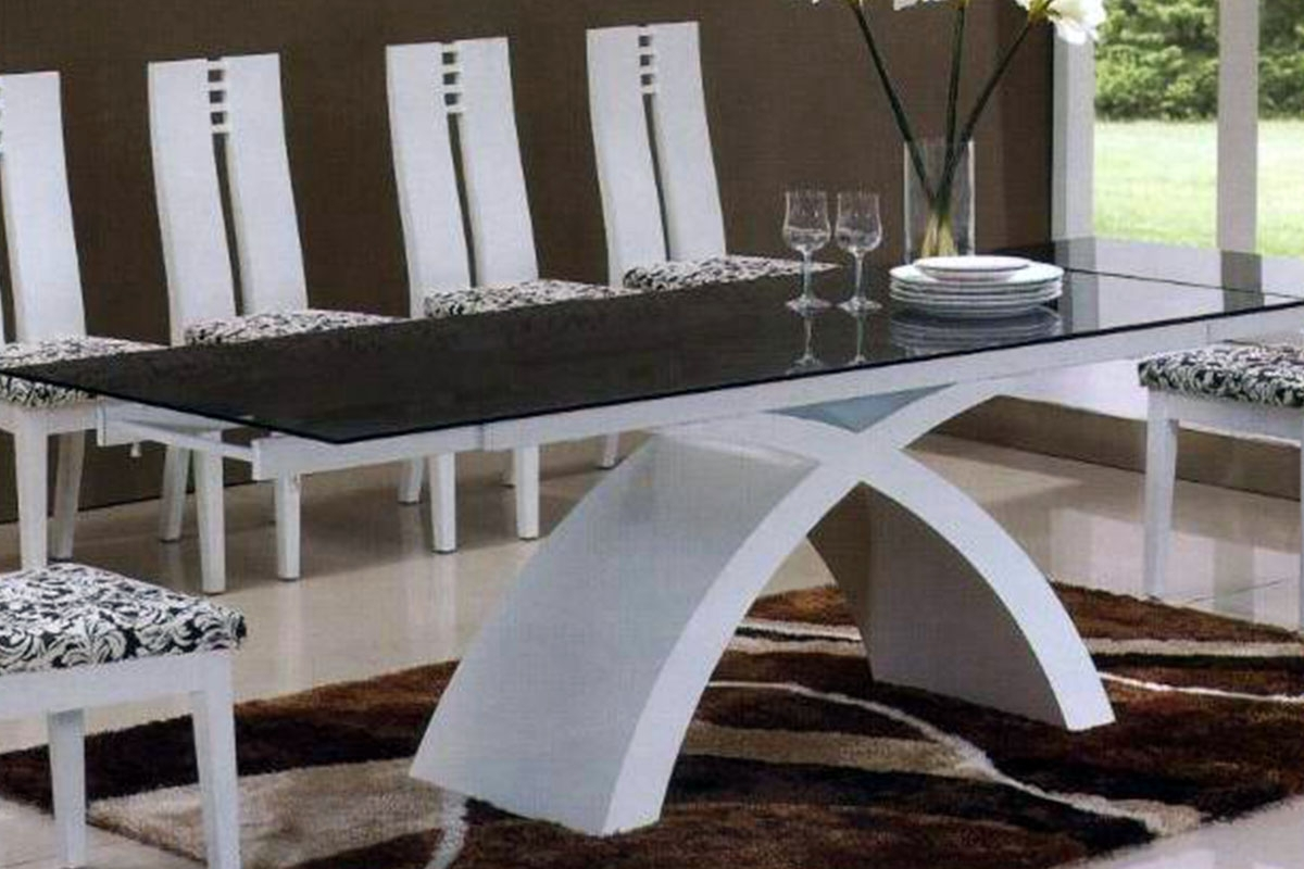 Buy Dining Tables In Latest Buy Glass Dining Table And White Leather Chairs In Lagos Nigeria (View 13 of 25)