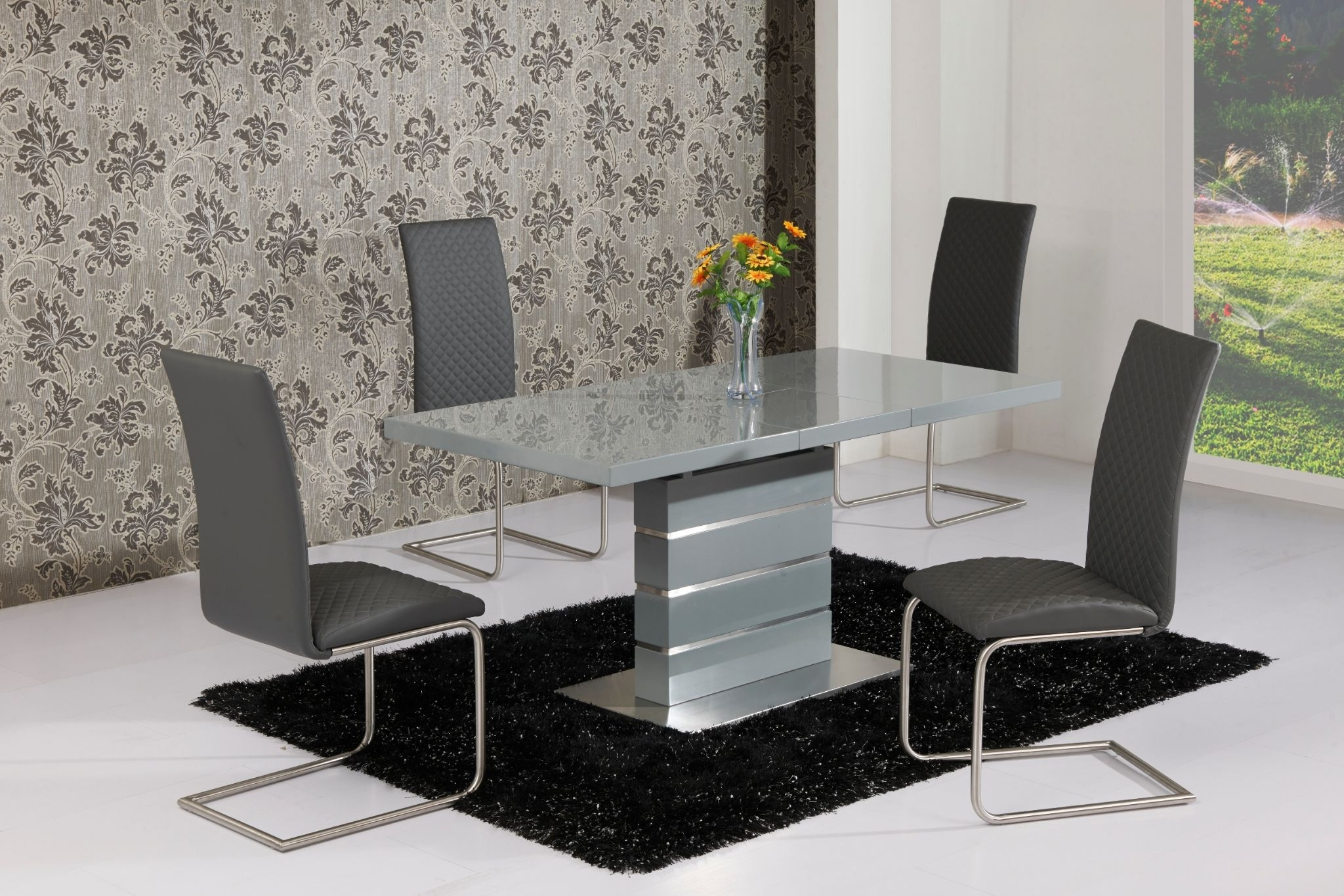 Buy Extendable Dining Table In Grey White Or Cream Pertaining To Popular Cream High Gloss Dining Tables (View 5 of 25)