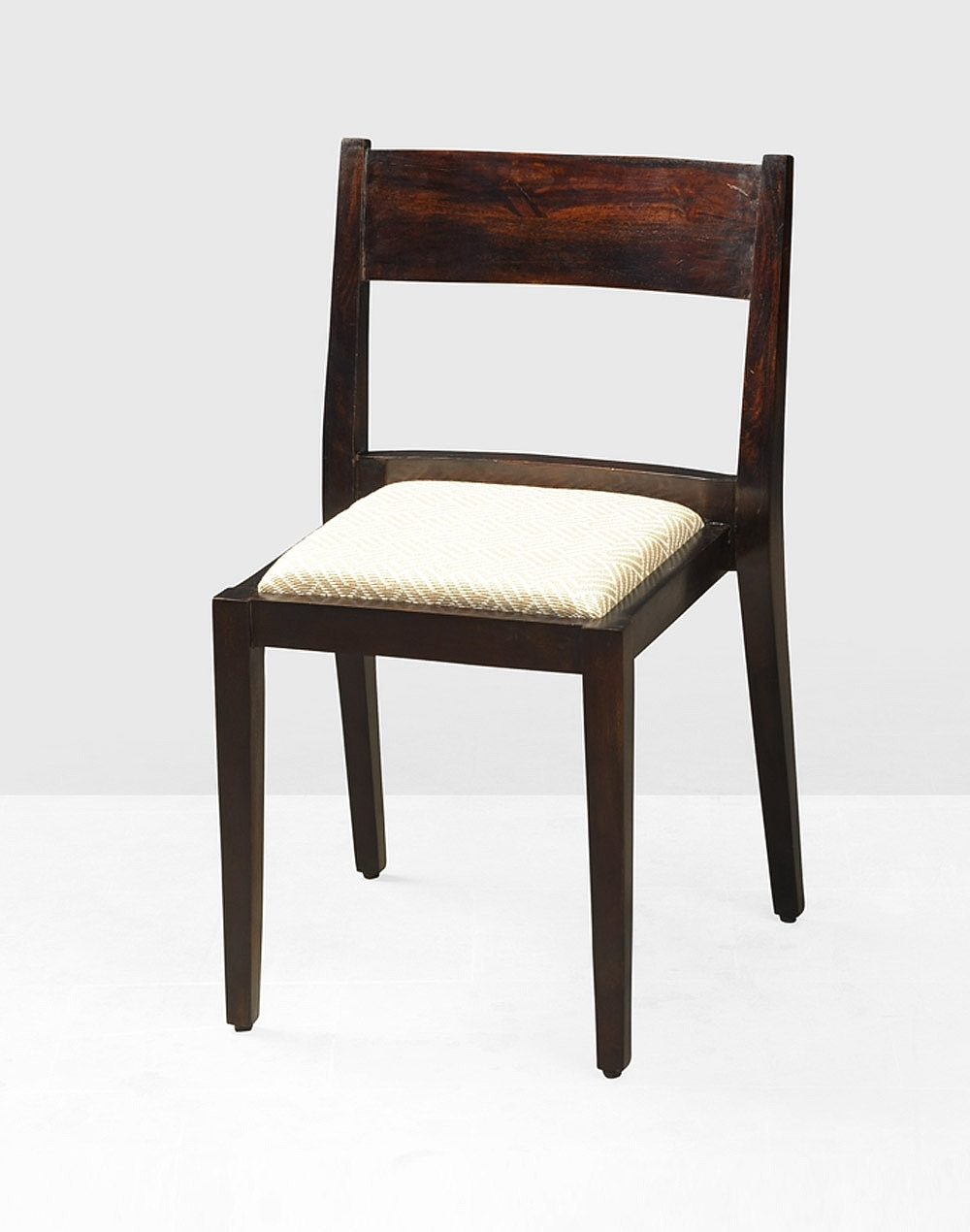 Buy Fabindia Brown Sheesham Stackable With Cushion Dining Chair With Regard To Most Popular Sheesham Wood Dining Chairs (View 6 of 25)