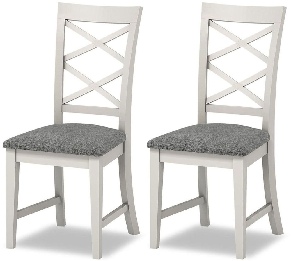 Buy Global Home Chester Painted Cross Back Dining Chair (Pair Intended For Famous Chester Dining Chairs (View 3 of 25)