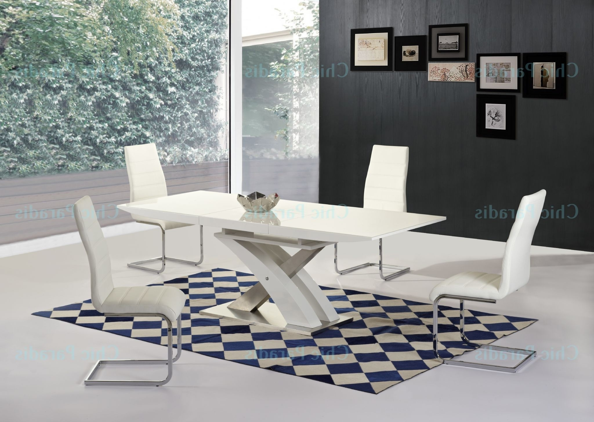 Buy Harmony White Extending Dining Table Gloss 160Cm 220Cm With Latest High Gloss White Dining Tables And Chairs (Gallery 17 of 25)