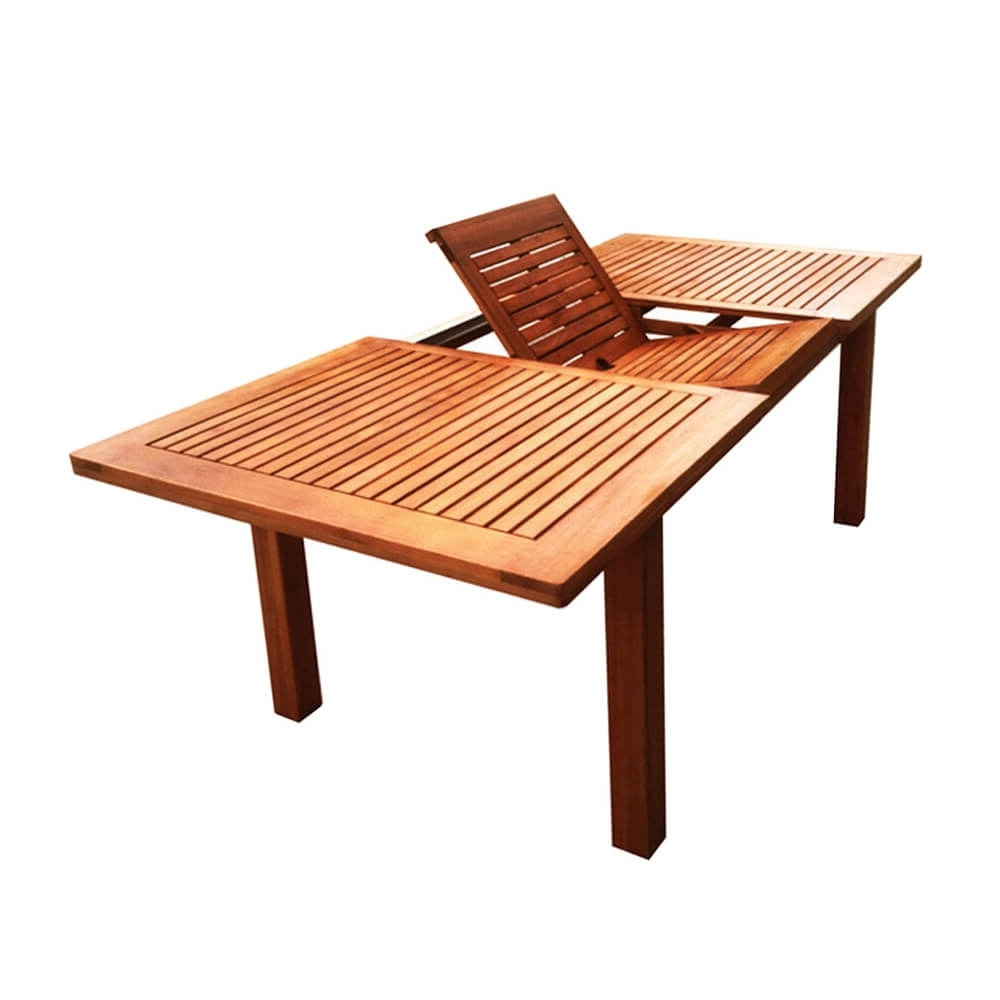 Buy Luxo Montague Timber Extendable Outdoor Dining Table Online With Best And Newest Outdoor Extendable Dining Tables (Gallery 5 of 25)