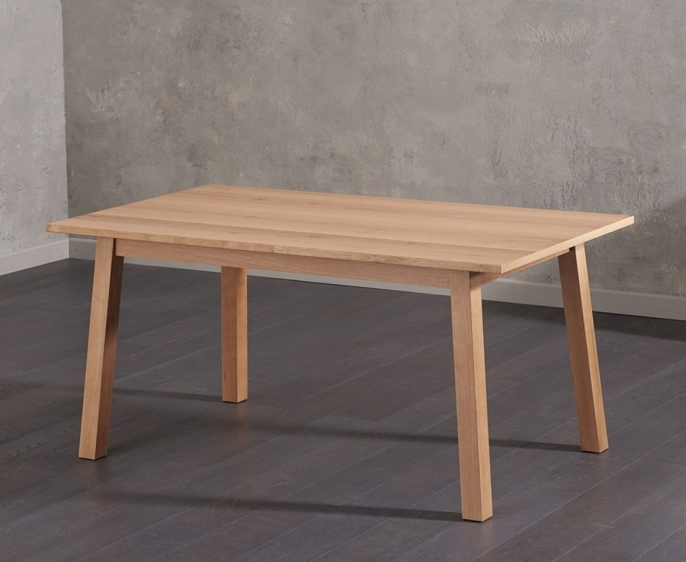 Buy Mark Harris Anneli Oak Dining Table – 160Cm Rectangular Online Inside Well Known Cheap Oak Dining Tables (View 6 of 25)