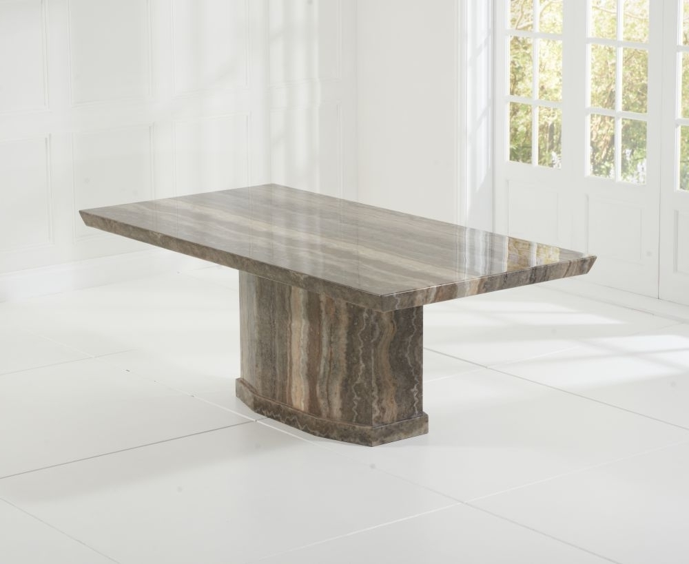 Buy Mark Harris Como Brown Marble Dining Table – 200Cm Rectangular In 2018 Como Dining Tables (View 10 of 25)