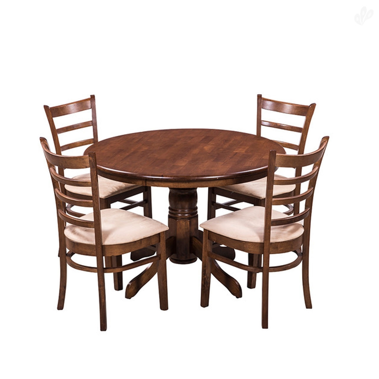 Buy Royaloak Coco Dining Table Set With 4 Chairs Solid Dining Chair Within Widely Used Round Oak Dining Tables And 4 Chairs (View 15 of 25)