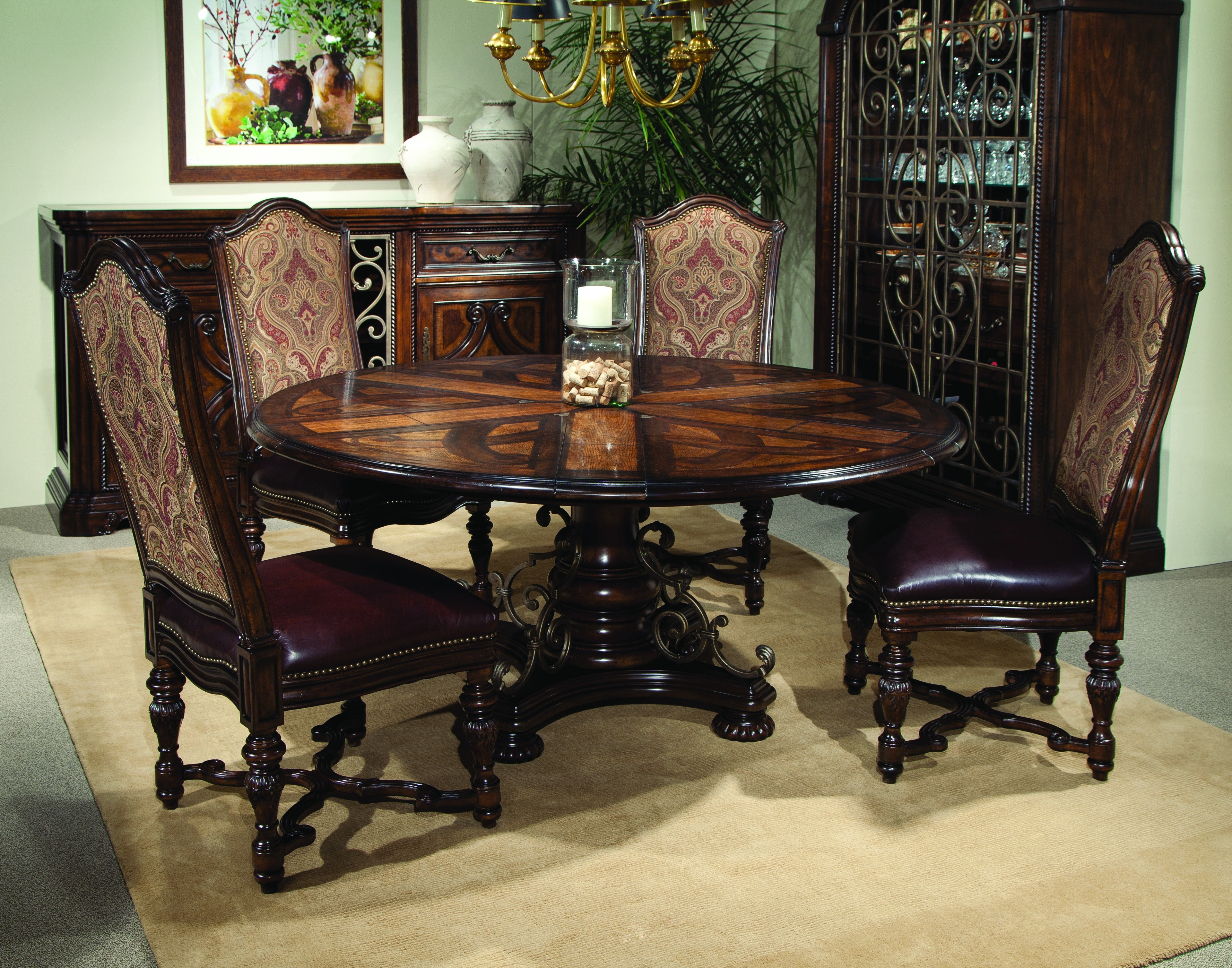 Buy Valencia – Round Dining Table With Six Leavesart From Www Inside Newest Valencia 60 Inch Round Dining Tables (View 5 of 25)