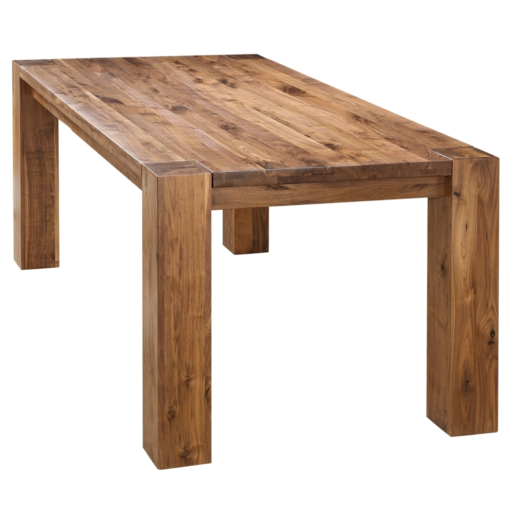 Byron Rustic Solid Walnut Wood Dining Table (View 5 of 25)