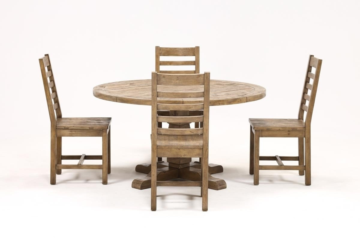 Caden 5 Piece Round Dining Set (Gallery 1 of 25)
