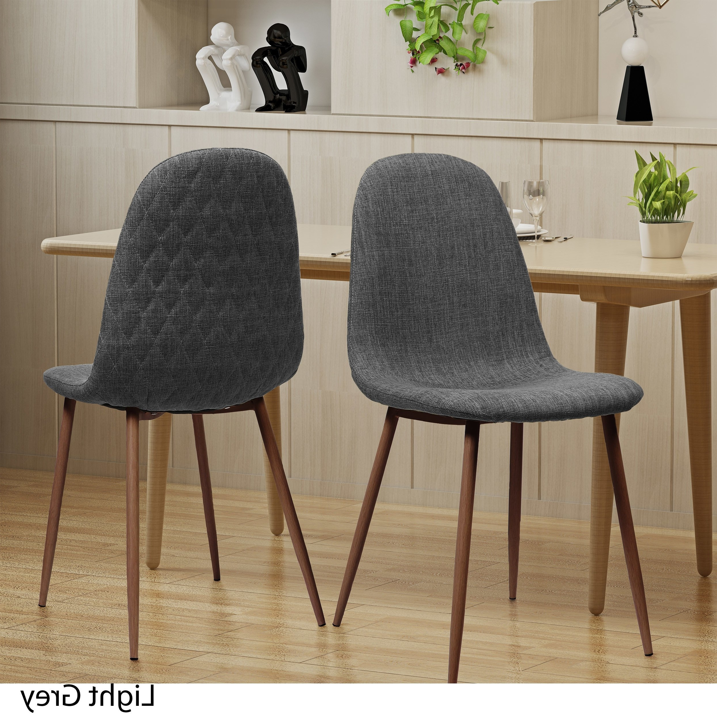 Caden 5 Piece Round Dining Sets With Regard To Recent Shop Caden Mid Century Fabric Dining Chair (Set Of 2)Christopher (Gallery 19 of 25)