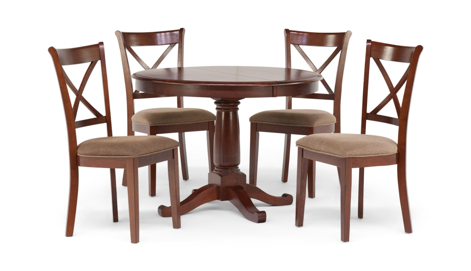 Caden 5 Piece Round Dining Sets With Upholstered Side Chairs Pertaining To Famous Desoto Table With 4 Chairsthomas Cole (View 25 of 25)
