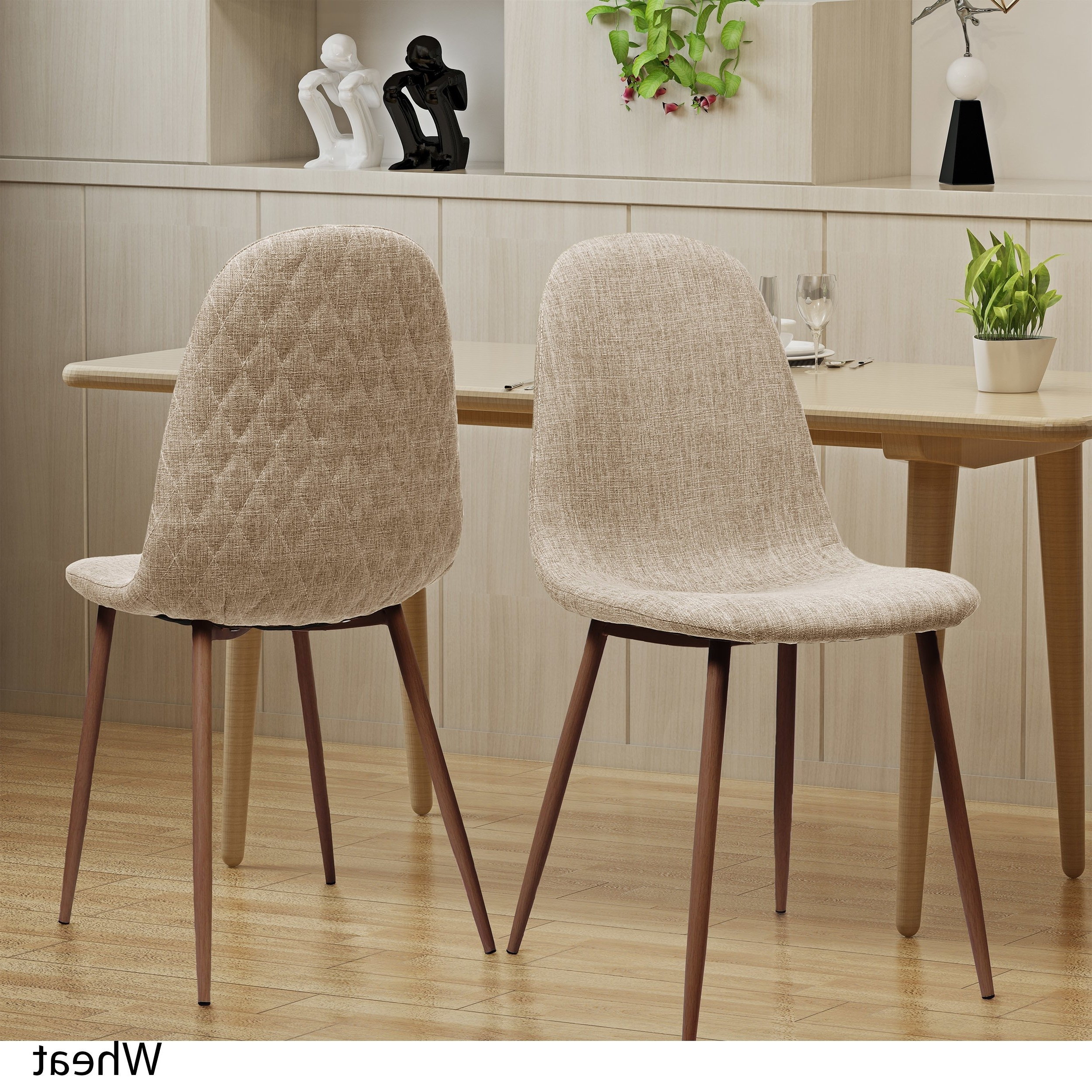 Caden 5 Piece Round Dining Sets With Upholstered Side Chairs Regarding Recent Shop Caden Mid Century Fabric Dining Chair (Set Of 2)Christopher (View 4 of 25)