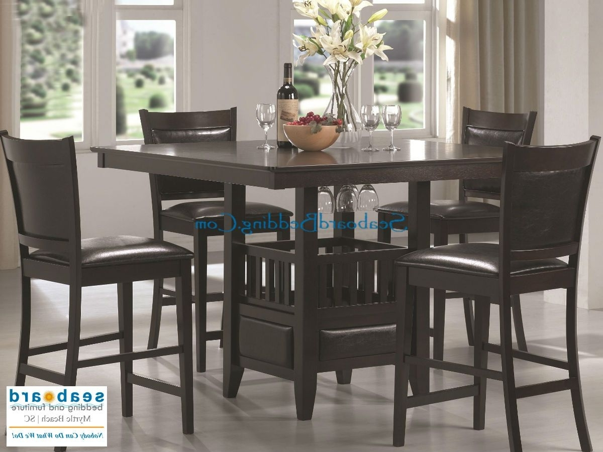Caden 5 Piece Round Dining Sets Within Most Current Jaden Pub Table Collectioncoaster Dine In Casual Comfort With (View 6 of 25)