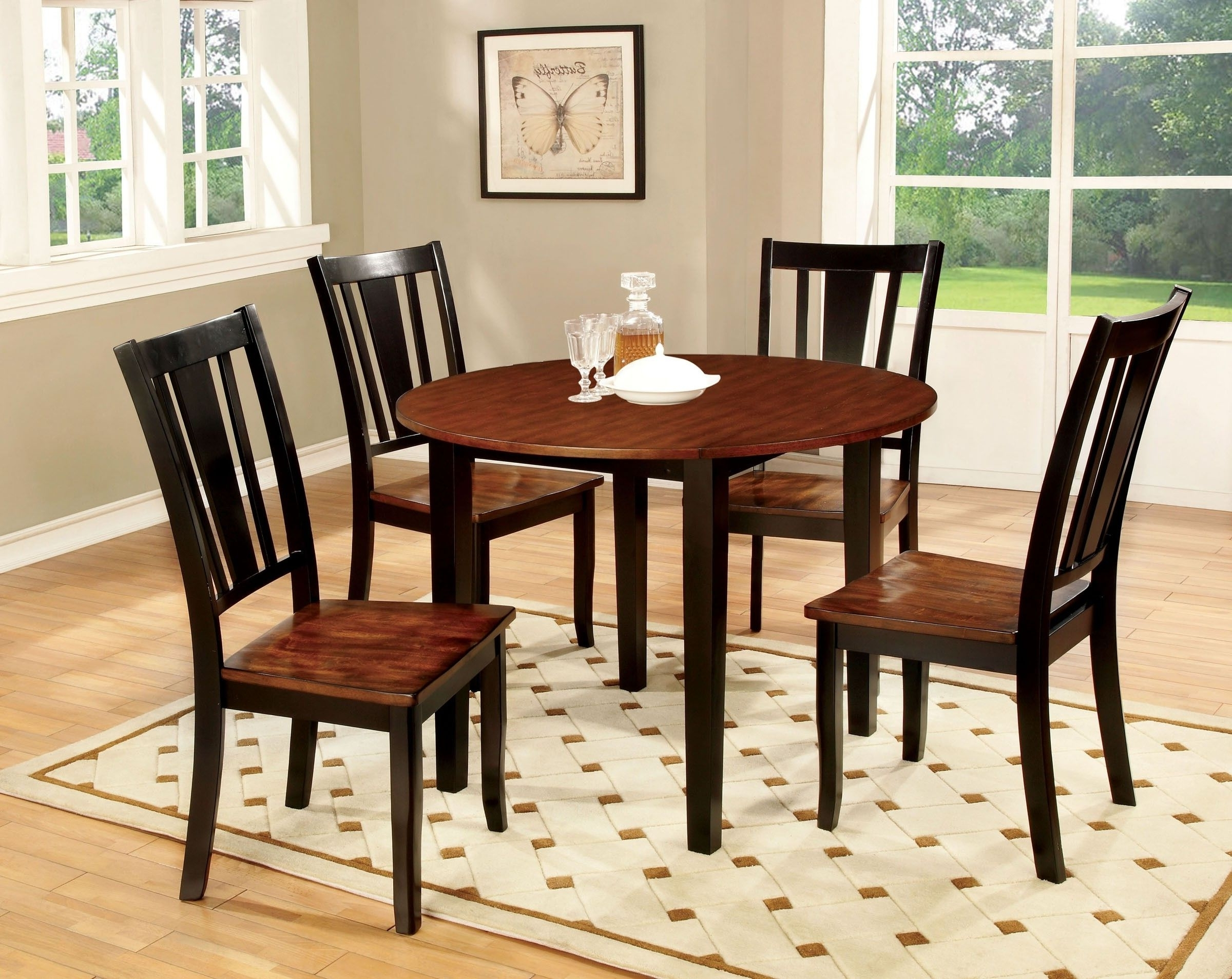 Caden 6 Piece Rectangle Dining Sets Intended For Current Simple Black And Cherry Dining Table (View 1 of 25)