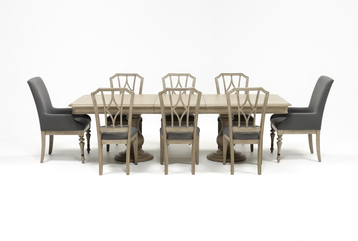 Caira 9 Piece Extension Dining Sets With Diamond Back Chairs Pertaining To 2018 Caira 9 Piece Extension Dining Set W/diamond Back Chairs (View 2 of 25)