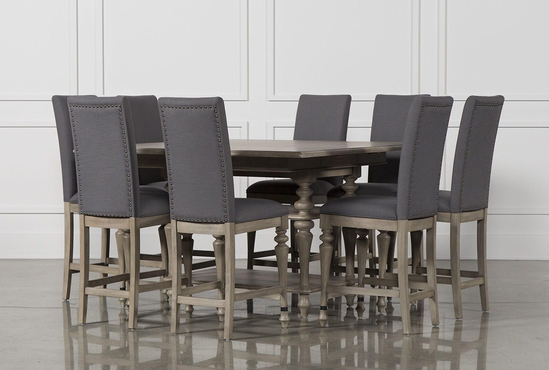 Caira 9 Piece Extension Dining Sets With Regard To Latest Caira 9 Piece Extension Counter Set (View 2 of 25)