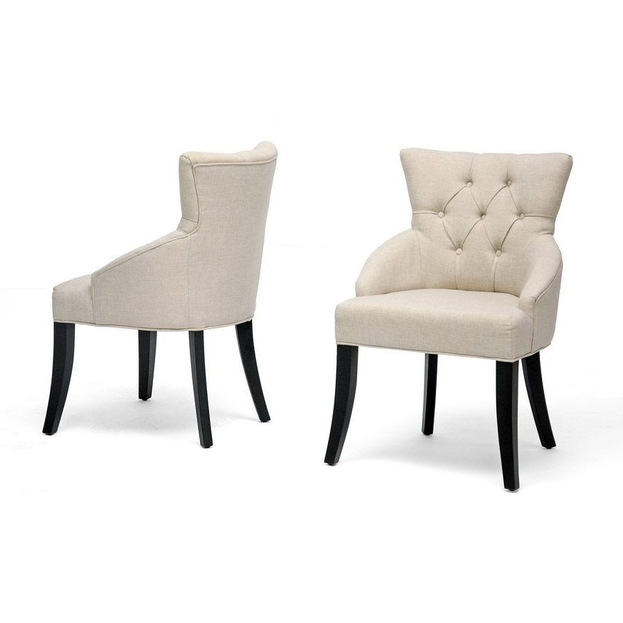 Caira Black 5 Piece Round Dining Sets With Diamond Back Side Chairs Throughout Best And Newest Shop Halifax Light Beige Dining Chair (Set Of 2) – Free Shipping (View 8 of 25)