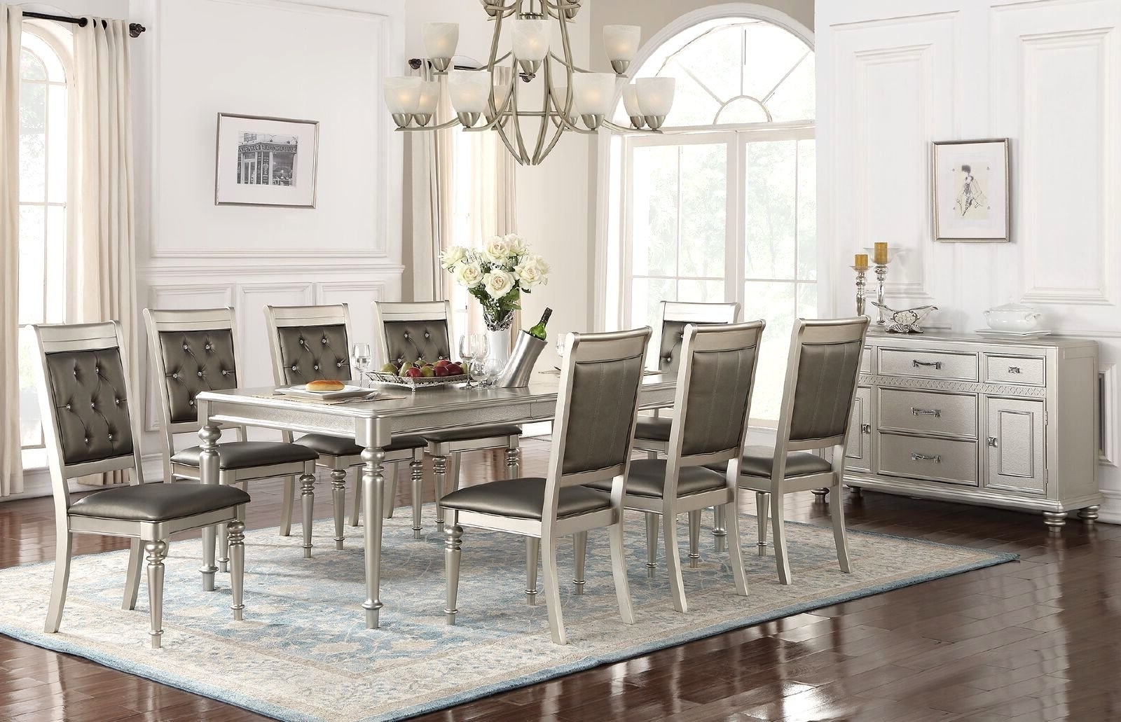 Caira Black 7 Piece Dining Sets With Arm Chairs & Diamond Back Chairs For 2018 9 Piece Dining Sets You'll Love (View 14 of 16)