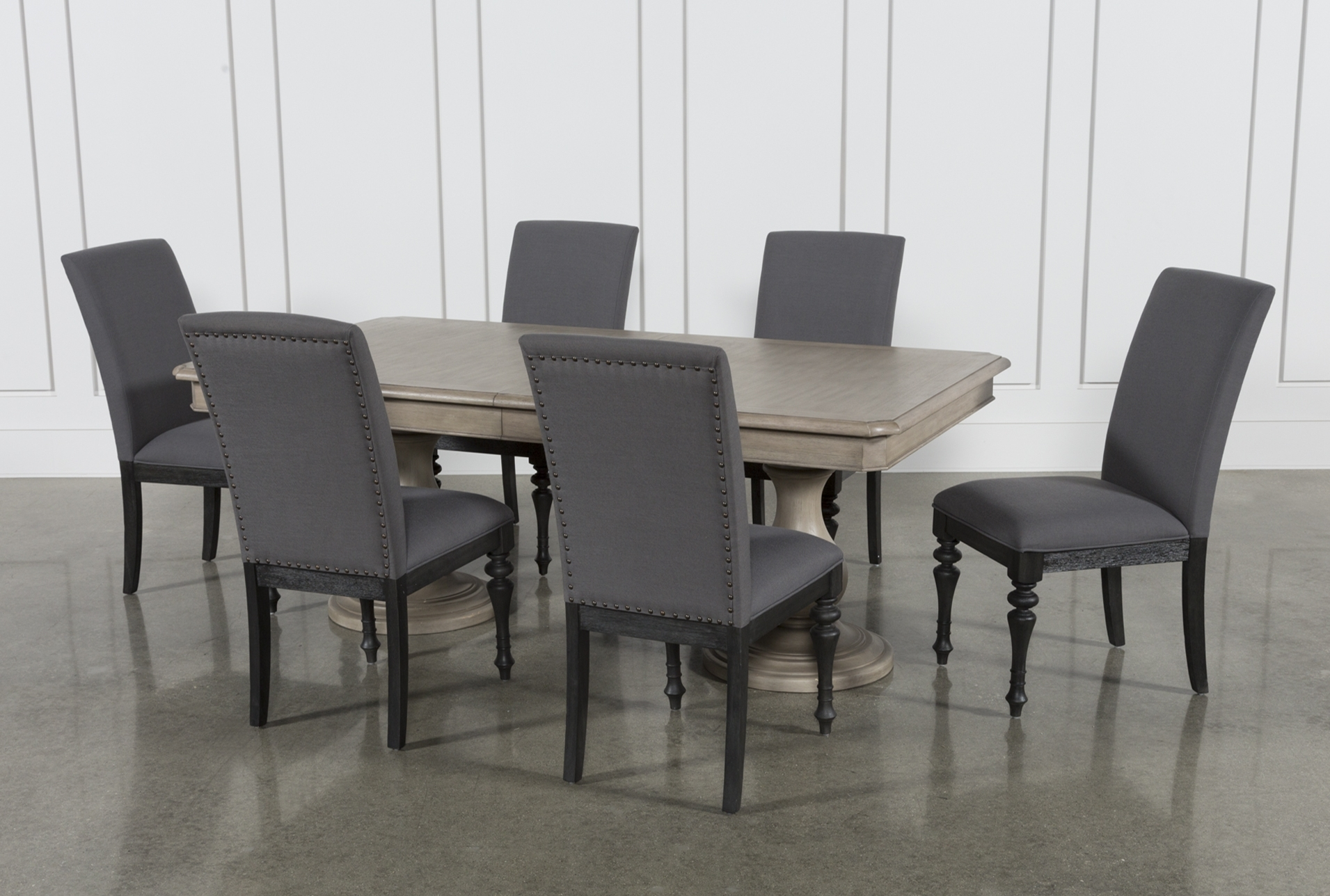 Caira Black 7 Piece Dining Sets With Upholstered Side Chairs With Well Liked Global Furniture Bar Table Black (View 3 of 25)