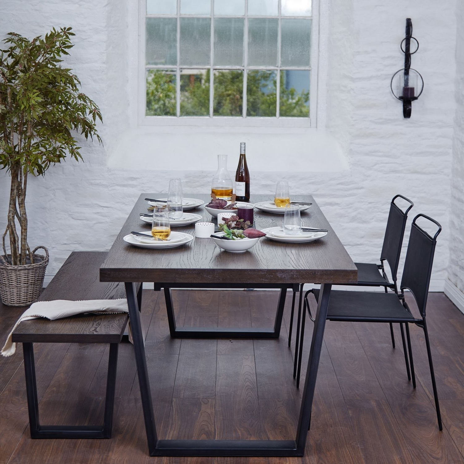 Calia Smoked Oak Dining Table Pertaining To Current Oak Dining Furniture (View 16 of 25)