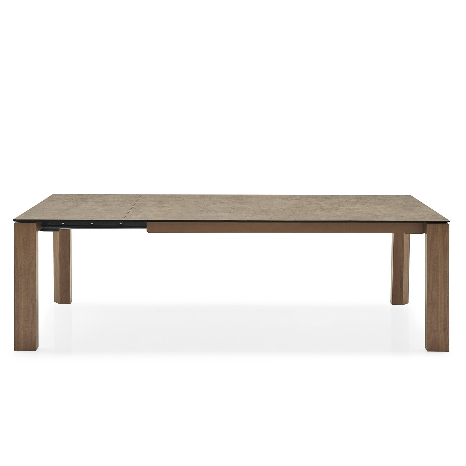Calligaris Omnia Glass Extending Dining Table – Furnatical Within Widely Used Extending Outdoor Dining Tables (View 9 of 25)