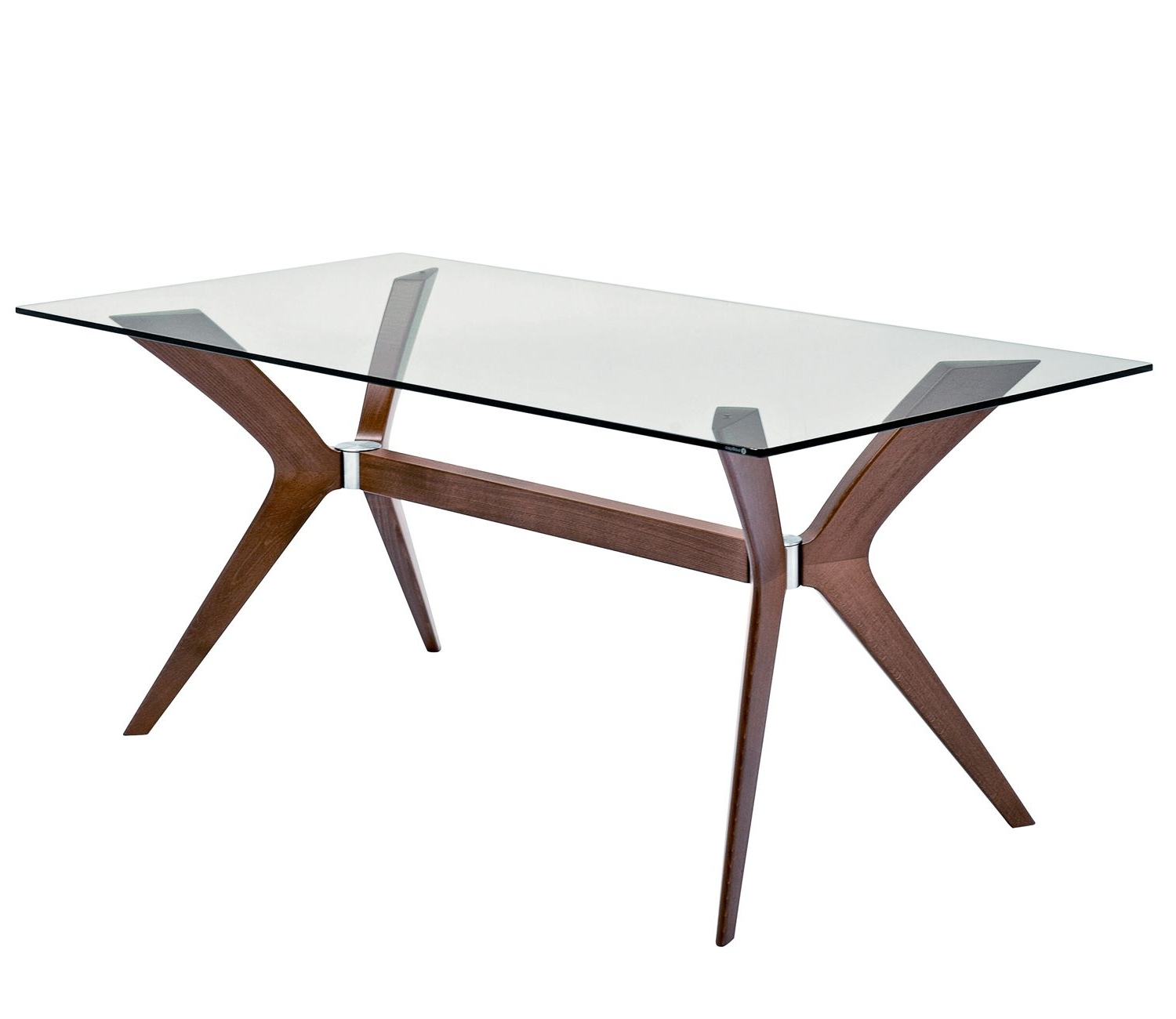 Calligaris Tokyo Dining Table Glass/walnut – Rectangular With Tokyo Dining Tables (Gallery 1 of 25)