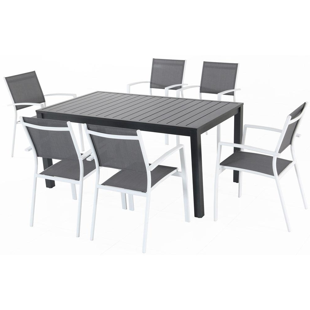 Cambridge Nova 7 Piece Aluminum Outdoor Dining Set With 6 Sling For Trendy Cambridge Dining Tables (View 10 of 25)
