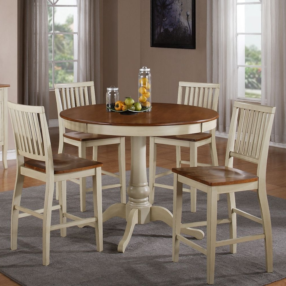 Candice Ii 5 Piece Round Dining Sets With Slat Back Side Chairs Throughout Newest The Candice Collection Offers Country Style Simplicity, Transforming (View 19 of 25)
