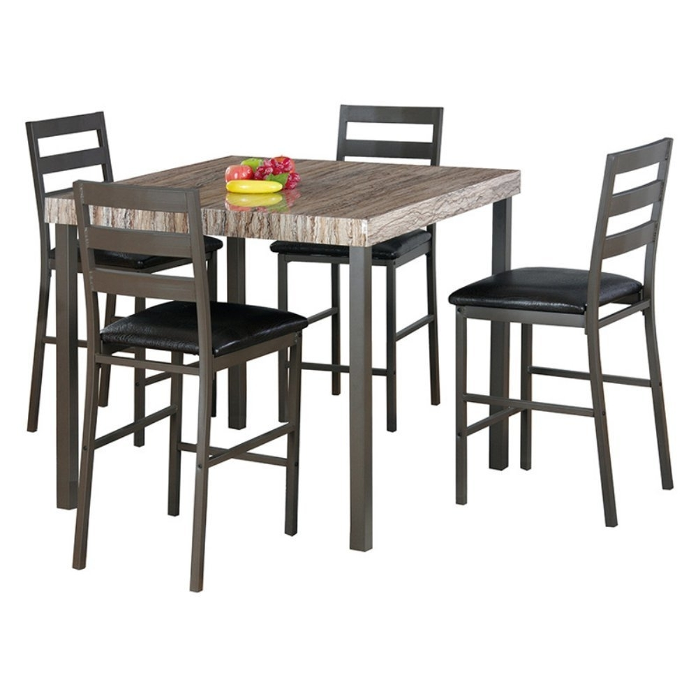 Candice Ii 5 Piece Round Dining Sets With Slat Back Side Chairs With Regard To Well Liked Cheap Two Tone Dining Set, Find Two Tone Dining Set Deals On Line At (View 6 of 25)