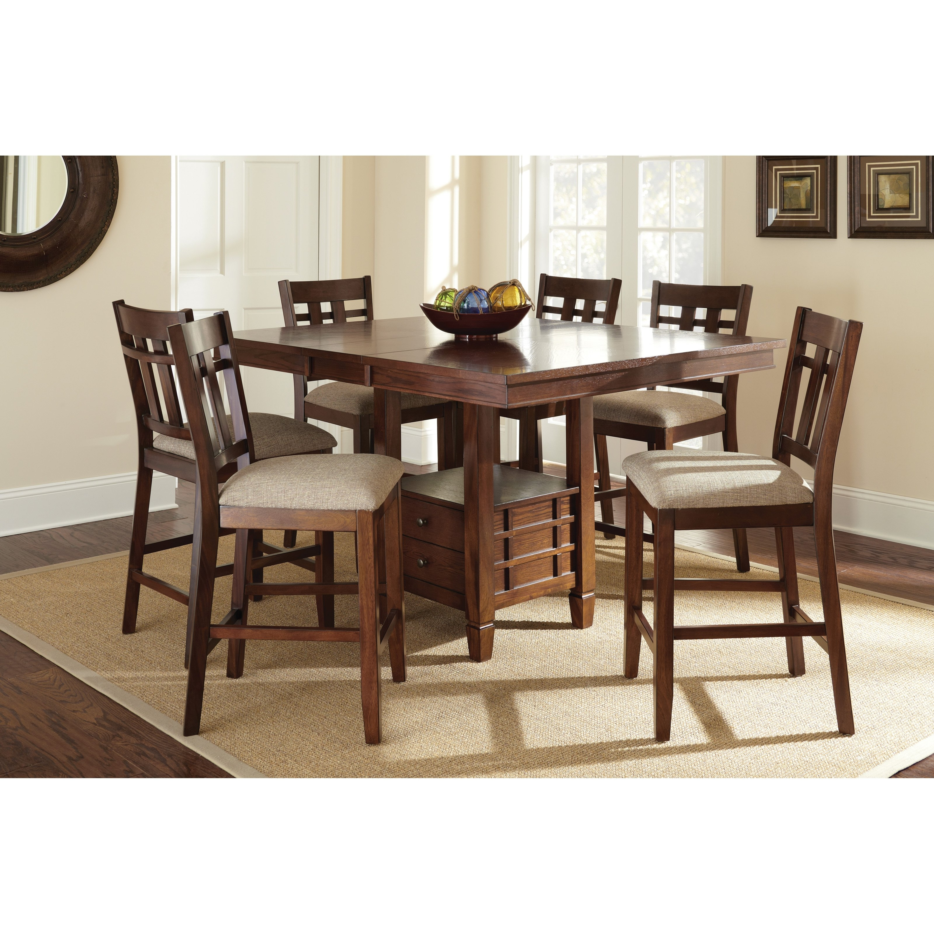 Candice Ii 7 Piece Extension Rectangle Dining Sets Inside Most Popular Steve Silver Bolton 7 Piece Counter Height Storage Dining Table Set (View 11 of 25)