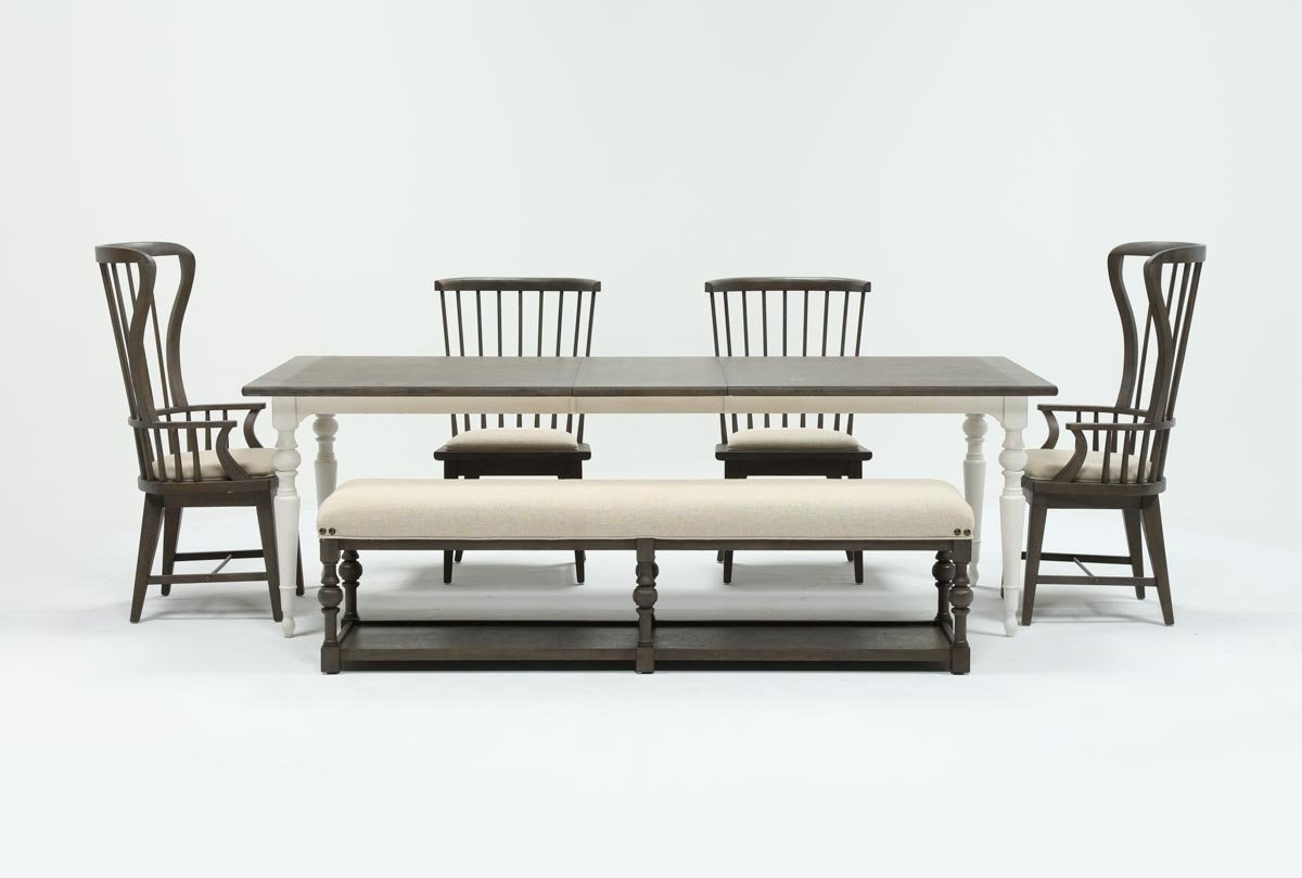 Candice Ii 7 Piece Extension Rectangular Dining Sets With Slat Back Side Chairs With Regard To Current Candice Ii 6 Piece Extension Rectangle Dining Set (View 4 of 25)