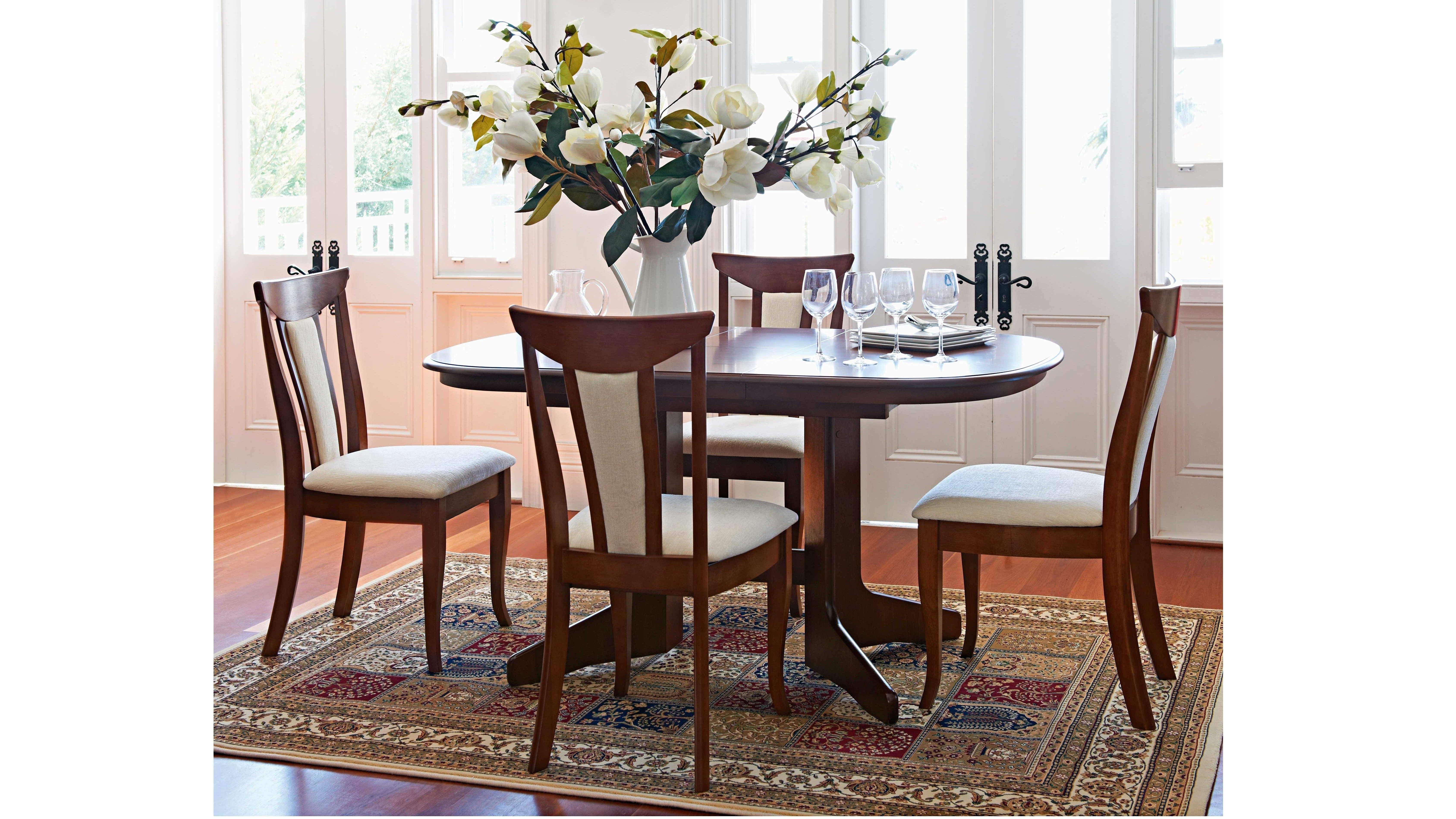Candice Ii 7 Piece Extension Rectangular Dining Sets With Uph Side Chairs Regarding Popular Geneva 5 Piece Dining Set – Harvey Norman (View 5 of 25)