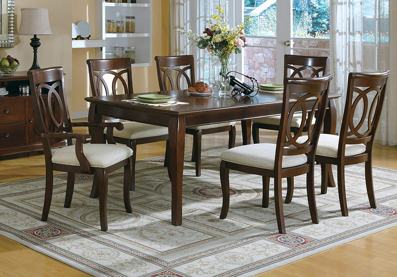 """Candice Ii Extension Rectangle Dining Tables In Current Amazon: Candace & Basil Dining Table – 42""""x 76""""/walnut Veneer (View 5 of 25)"""