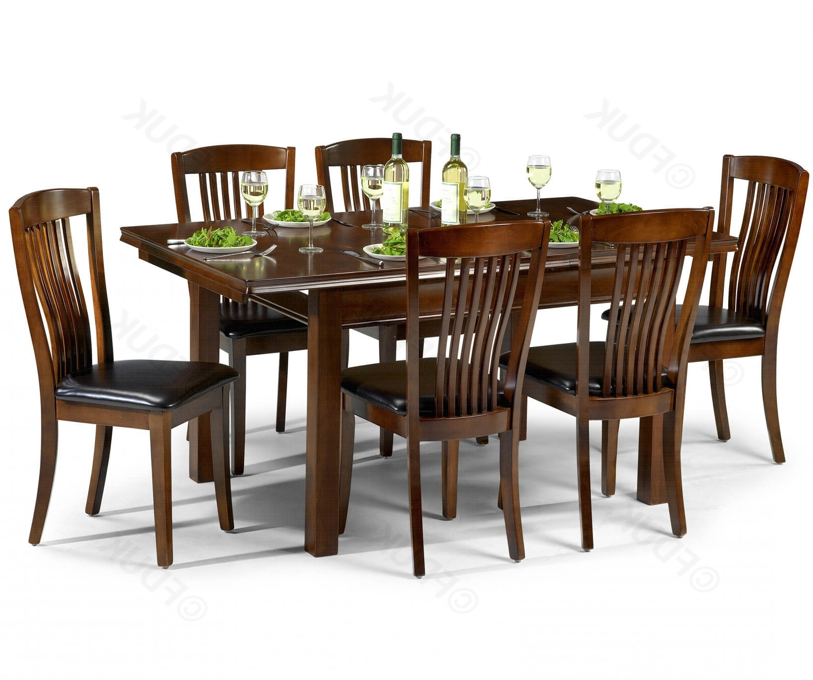 Canterbury Wooden Dining Table With 6 Within Famous Extending Dining Tables And 6 Chairs (View 19 of 25)