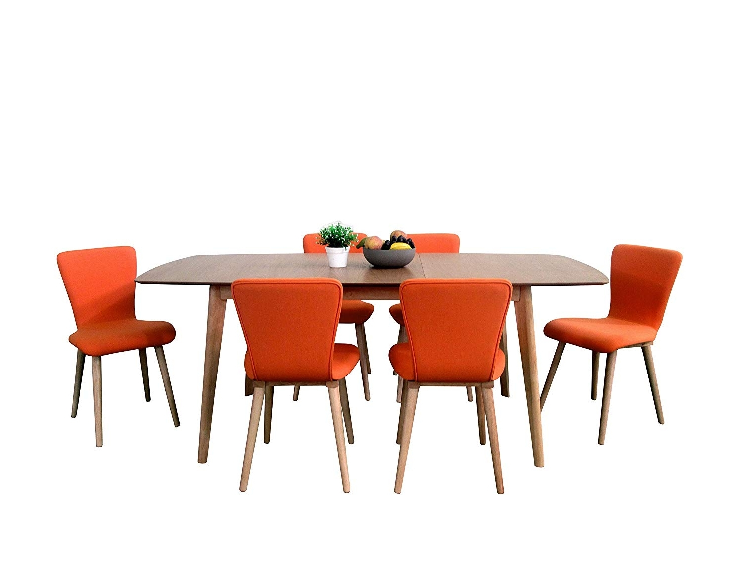 Carly Rectangle Dining Tables Throughout Most Current Amazon – Midtown Concept Carly Mid Century 7Piece Living Room (View 12 of 25)
