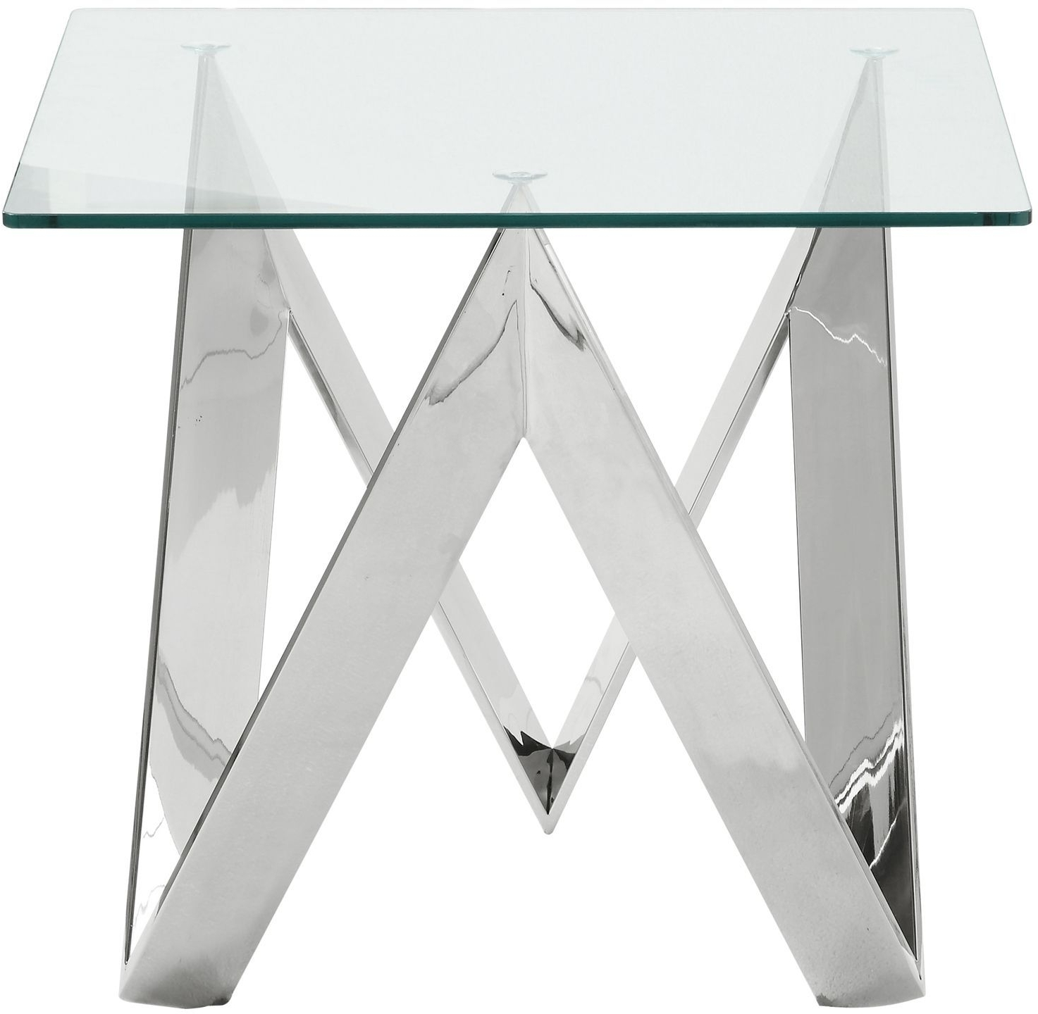 Carly Triangle Tables Regarding Most Recently Released Widforss Antique Silver Dining Table From Acme (View 8 of 25)