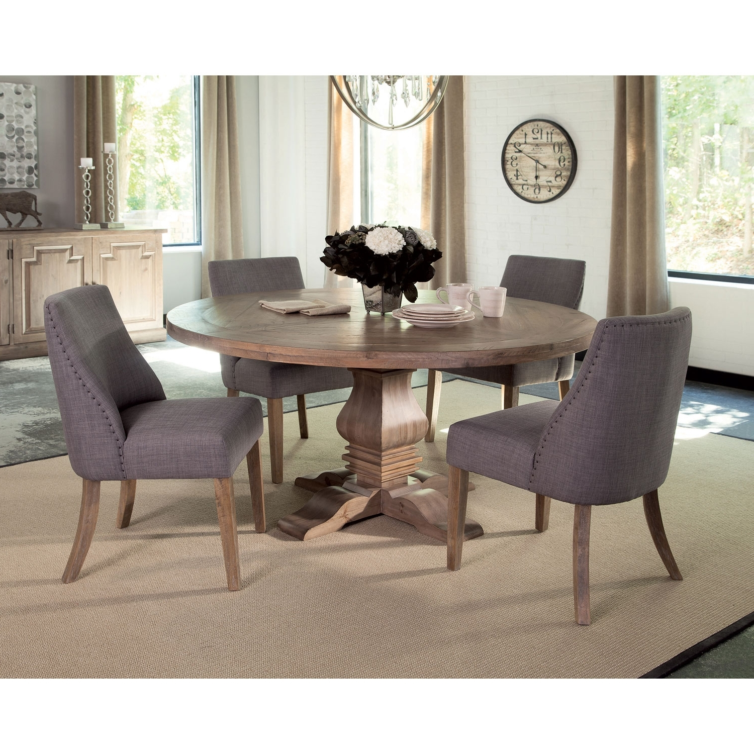 Catchy Circle Kitchen Table In Donny Osmond Home Florence Pine Round Throughout Widely Used Macie Round Dining Tables (View 2 of 25)
