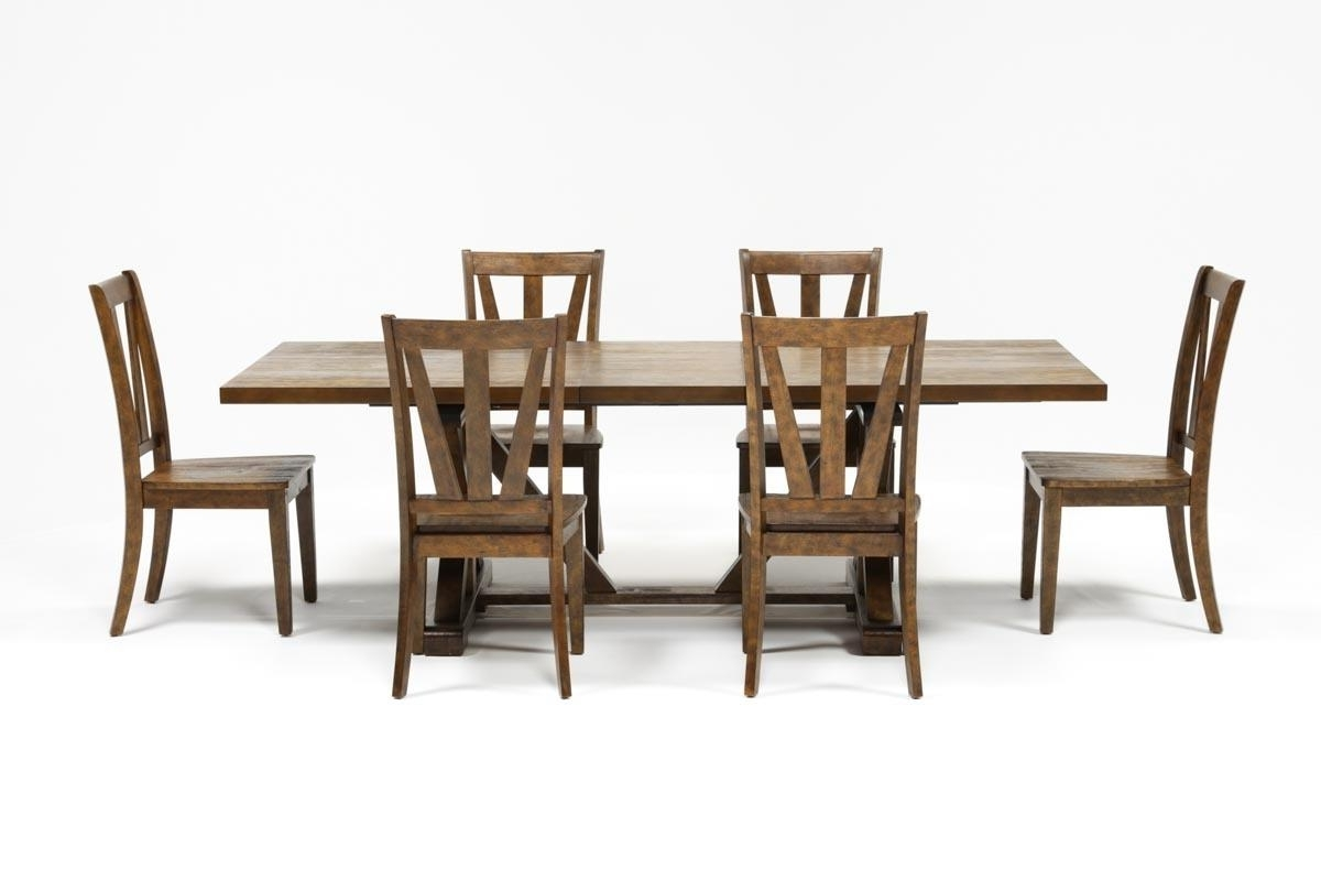 Chandler 7 Piece Extension Dining Set W/wood Side Chairs (View 6 of 25)