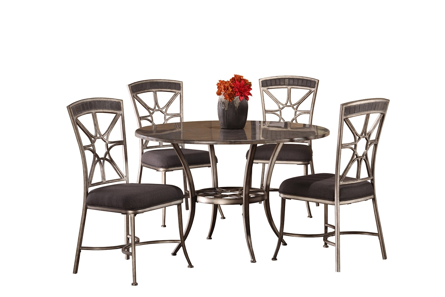 Chandler Extension Dining Tables Throughout Best And Newest Hillsdale Chandler 5 Piece Dining Set – Black Pewter/blue Stone Top (View 10 of 25)