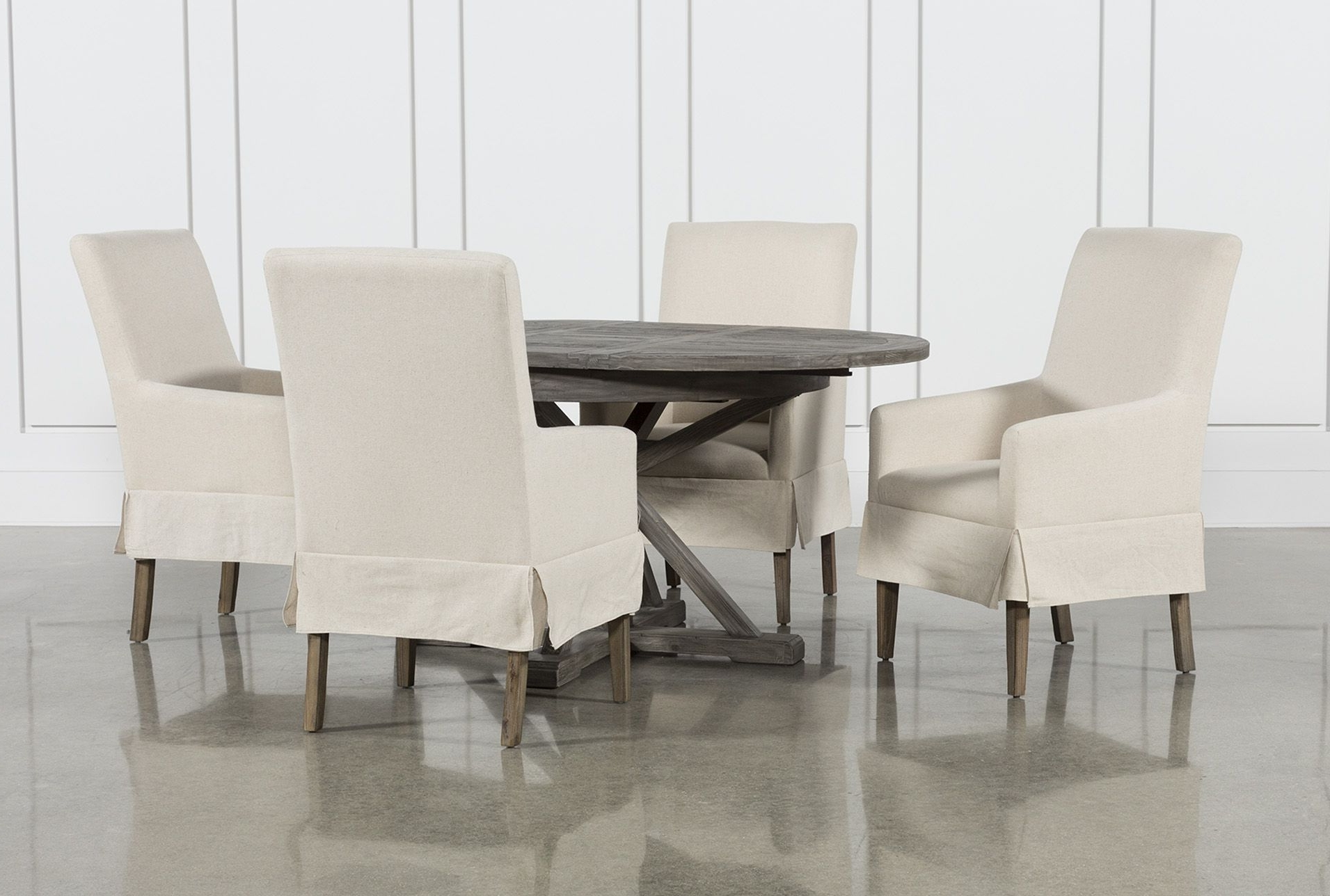 Chandler Fabric Side Chair With Most Recent Jaxon Grey 5 Piece Extension Counter Sets With Wood Stools (Gallery 20 of 25)