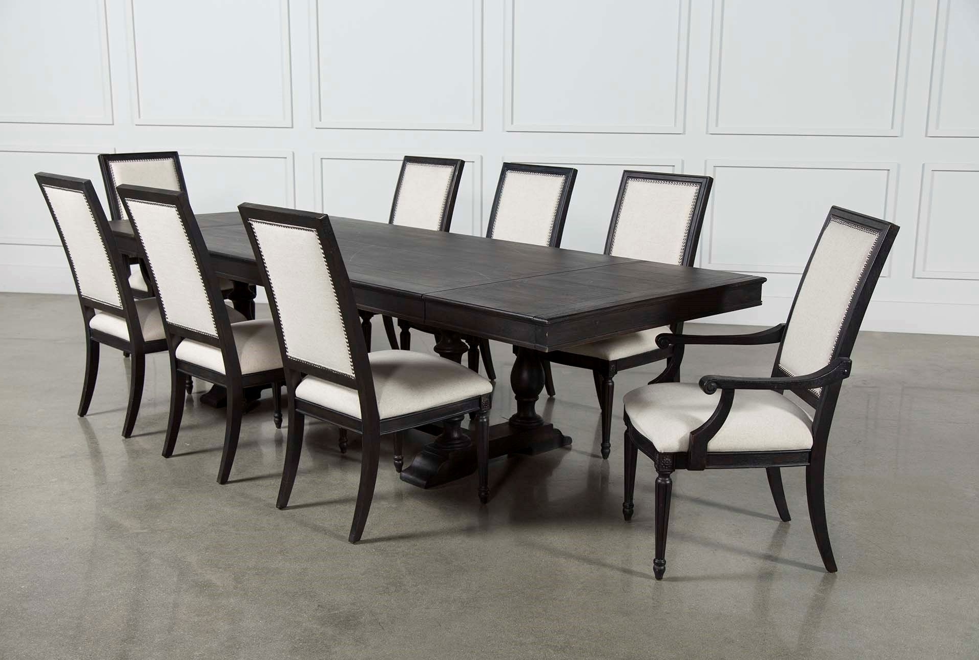 Chapleau 9 Piece Extension Dining Set, Brown (View 1 of 25)