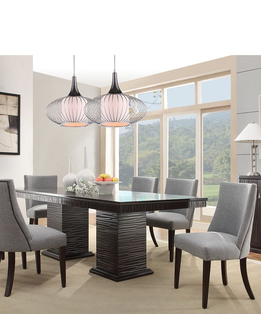 Chapleau Ii 9 Piece Extension Dining Table Sets Throughout Preferred Look At This Espresso & Gray Mid Century Modern Seven Piece Dining (View 9 of 25)