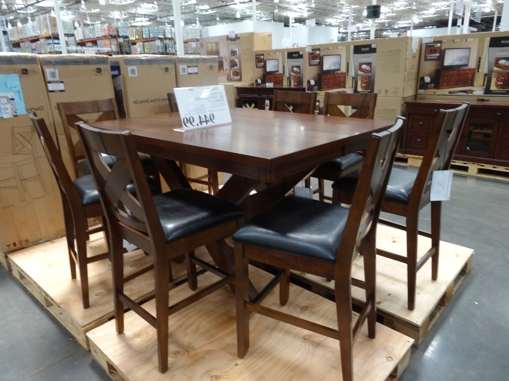 Charleston 9 Piece Counter Height Dining Set In Fashionable Market 7 Piece Counter Sets (Gallery 1 of 25)