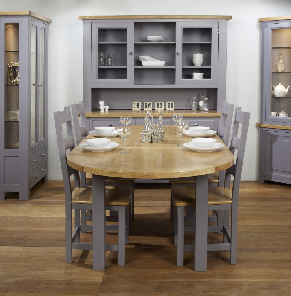 Charltons Bretagne Solid Oval Butterfly Extending Dining Table Within Famous Oval Extending Dining Tables And Chairs (View 21 of 25)