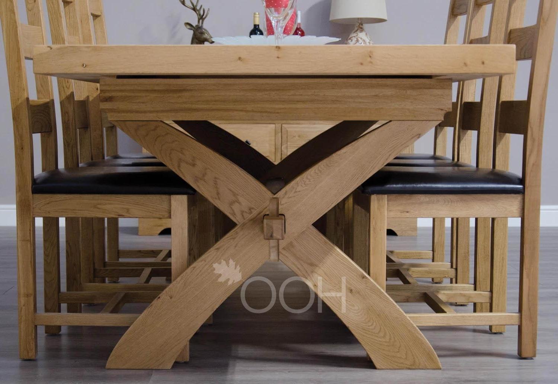 Chatsworth Oak X Leg Extending Dining Table In Most Up To Date Chatsworth Dining Tables (View 6 of 25)