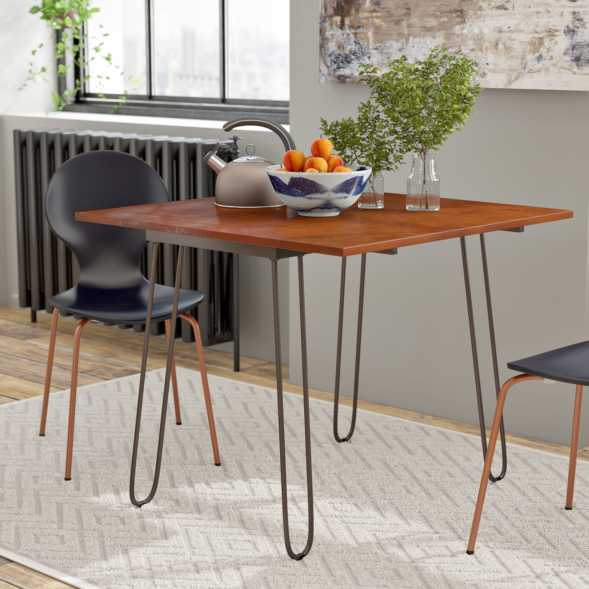 Cheap Drop Leaf Dining Tables In Most Recent Wrought Studio Parikh Drop Leaf Dining Table With Hairpin Legs (View 12 of 25)