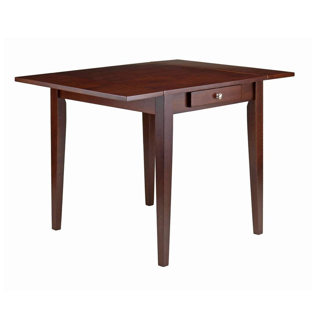Cheap Drop Leaf Dining Tables Throughout Well Known Winsome Wood Hamilton Walnut Double Drop Leaf Dining Table  (View 11 of 25)