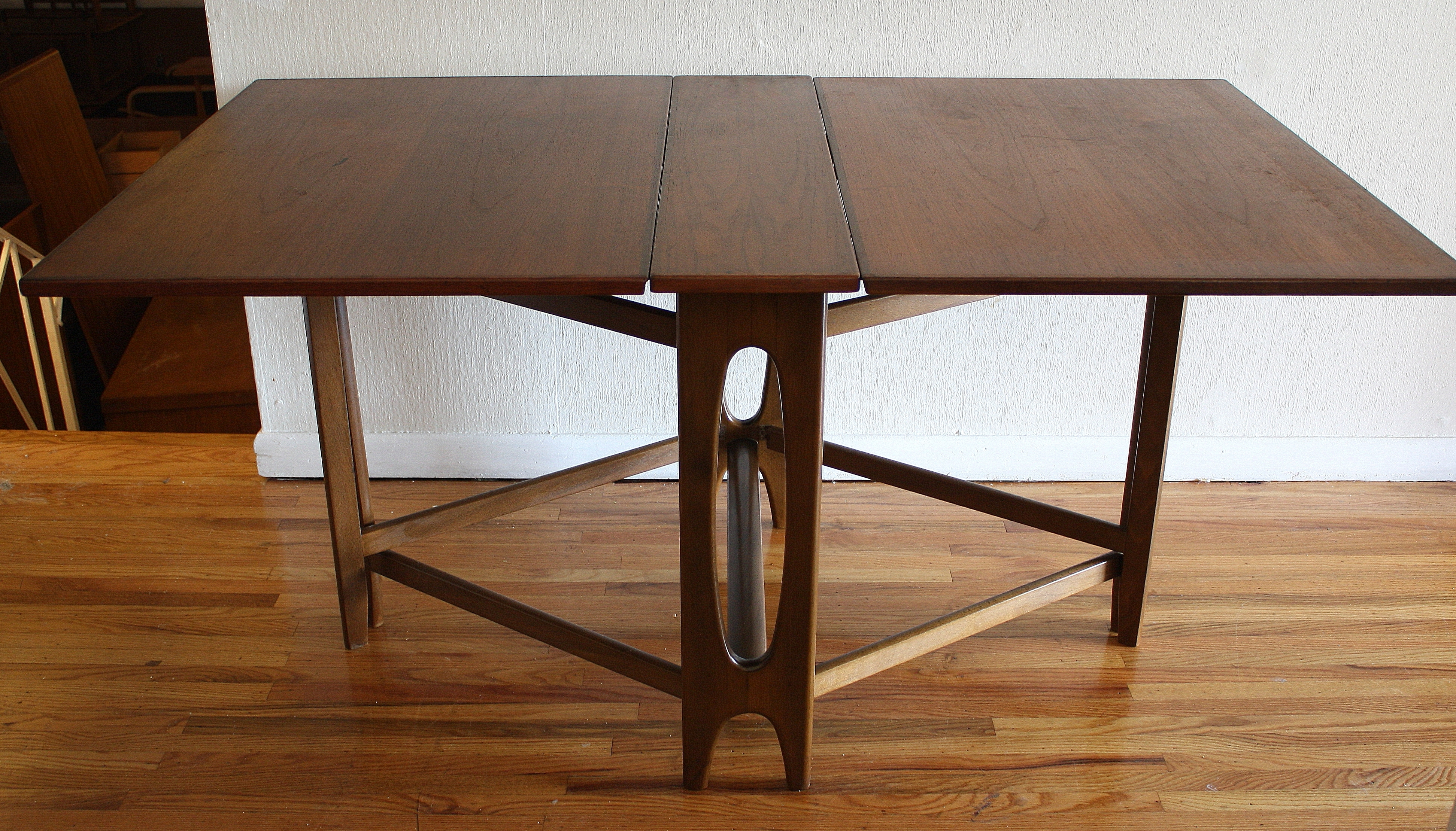 Cheap Folding Dining Tables Throughout Current Dining Room Designs: Wooden Floor White Wall Simplye Style Folding (View 7 of 25)